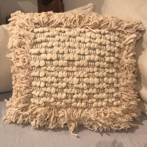"Other - Handwoven Accent Pillow Sham With Pillow 17"" x 17"""